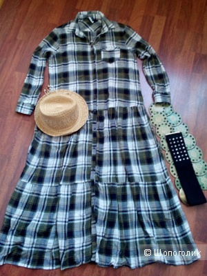 Платье -рубашка макси(в пол) вискоза-шерсть IMPERIAL Италия на 42-44-46