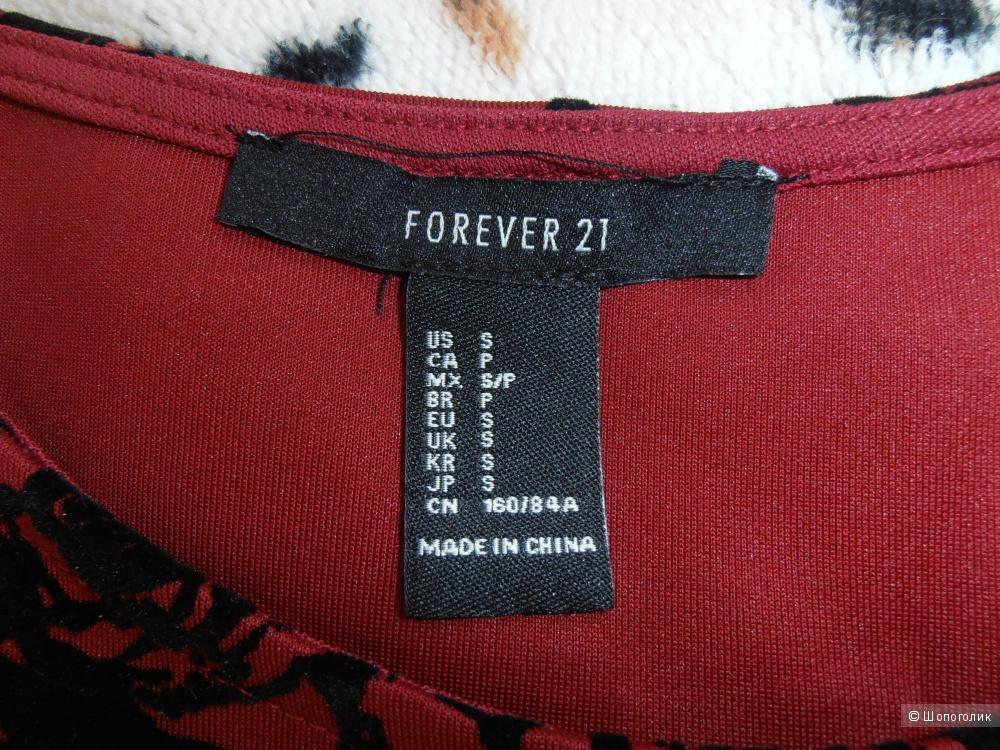 Топ с баской Forever 21, размер S.
