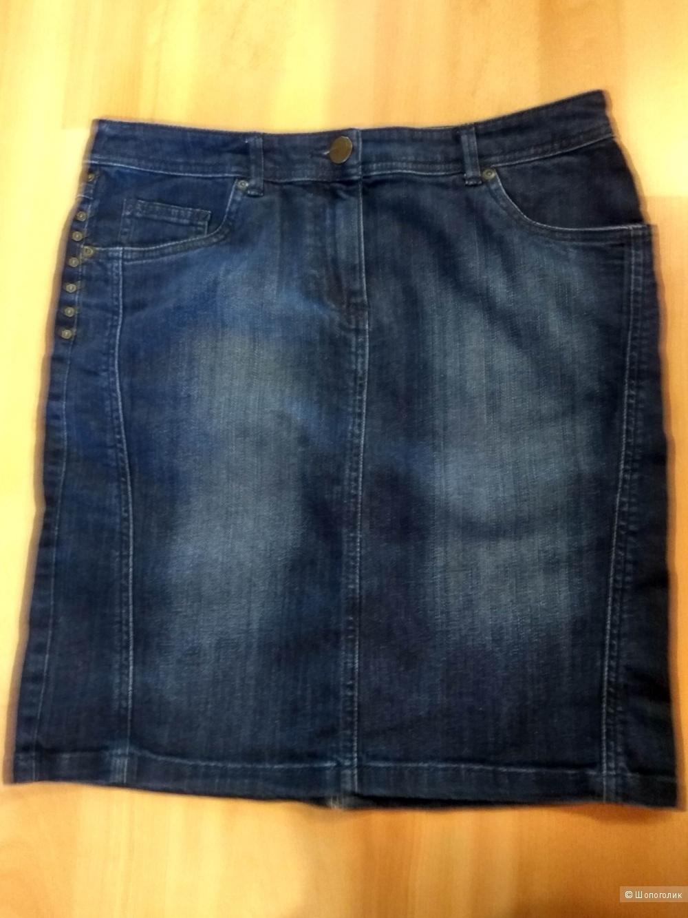 Джинсовая юбка  Marks&Spencer 12 (46 росс)