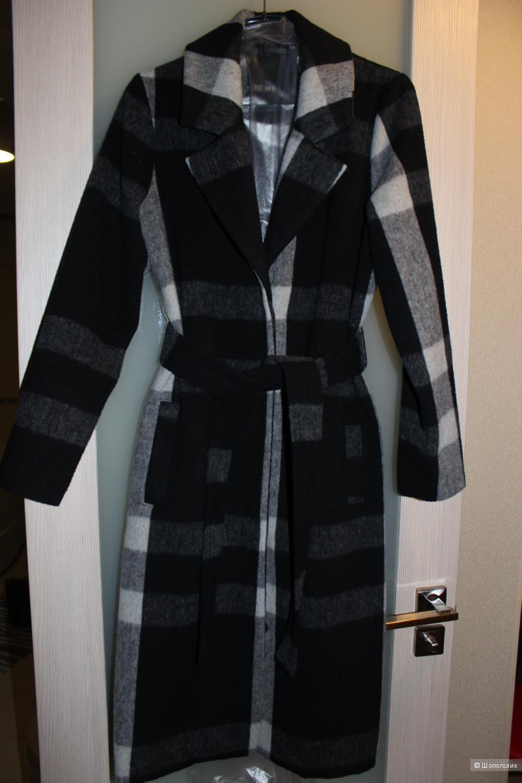 Пальто-халат в клетку ICHI,  размер 42-44