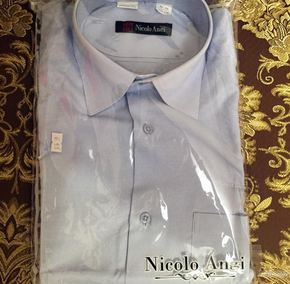 Новая мужская рубашка Nicolo Angi ворот 40см  рост 170-176