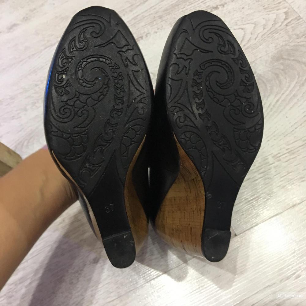 Стильные туфли-босоножки BASCONI, 37, натуральная кожа