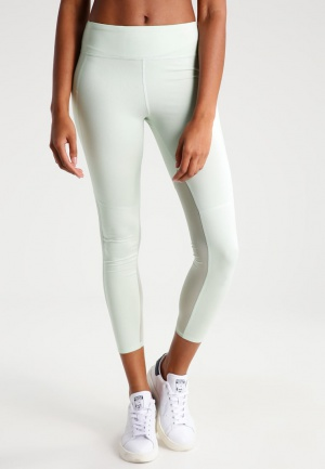 Леггинсы Active High-Rise Mesh Leggings mint ABERCROMBIE & FITCH размер S