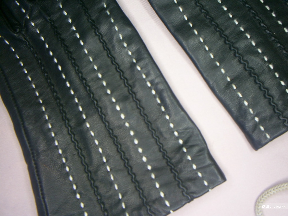 Женские кожаные перчатки р 7,5-8.