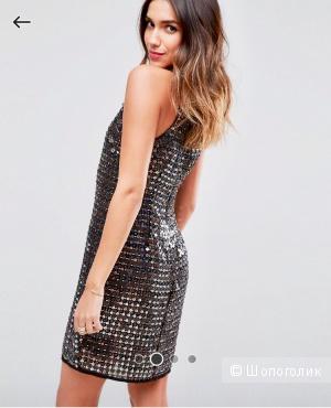 Платье мини с отделкой ASOS Premium размер 48- 50