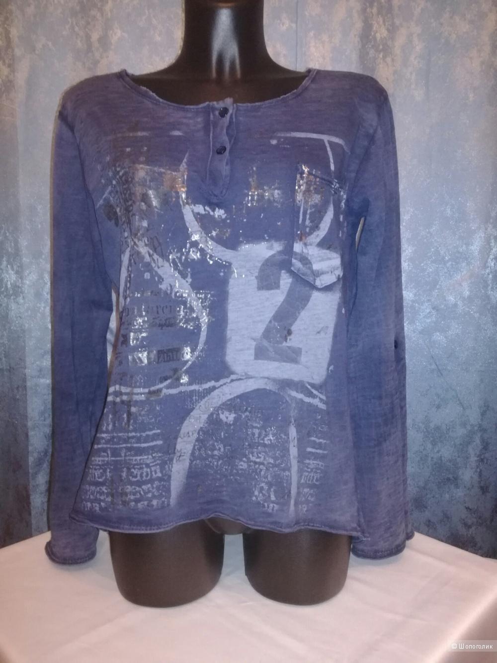 Рубашка-туника с принтом 44-46-48 размер