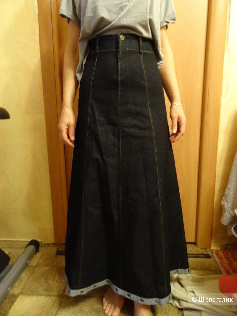"Джинсовая юбка в пол ""Miss Jeans"", размер 42-44, б/у"