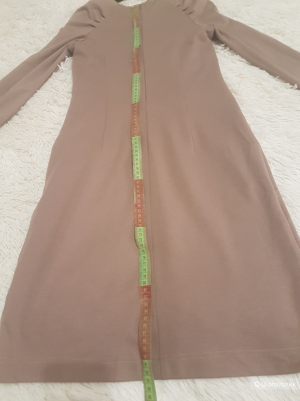 Платье трикотажное песочного цвета, Capriz  р. M, но лучше на р. S