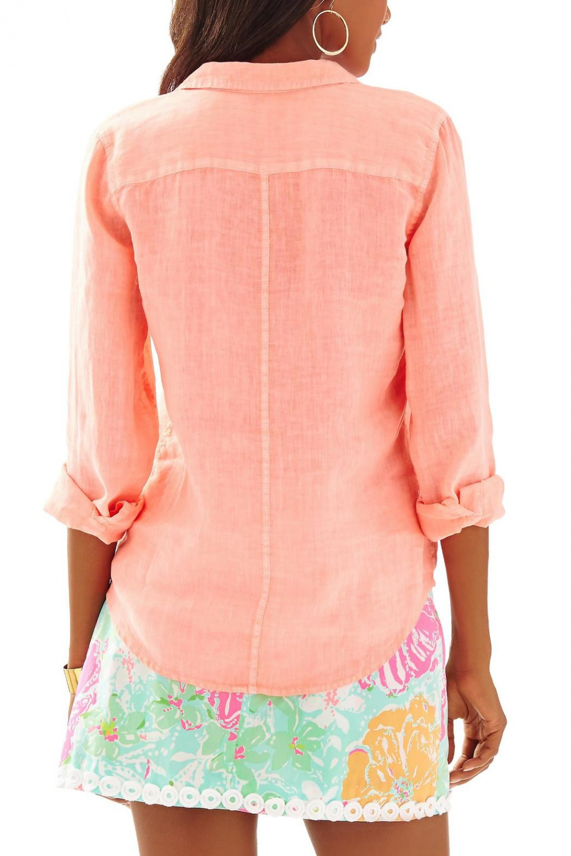 Новая льняная рубашка Lilly Pulitzer, XXs, большемерит