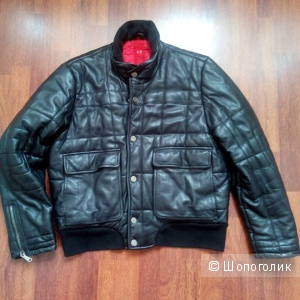 Куртка -бомбер OFFSET(Германия) мужская кожа натуральная в размере M (48-50)