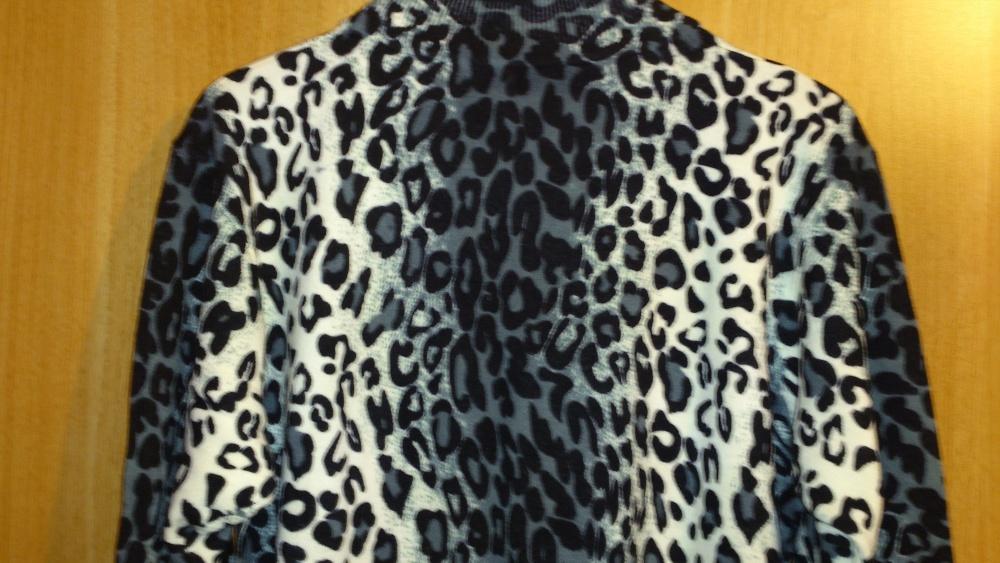 Кофта - туника Dilvin с леопардовым принтом, размер 52-56 (рос), Турция