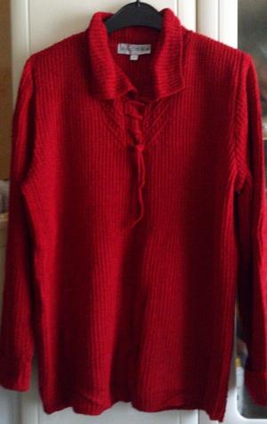 Кофта = свитер красная ANCORA, размер 54-58, Польша