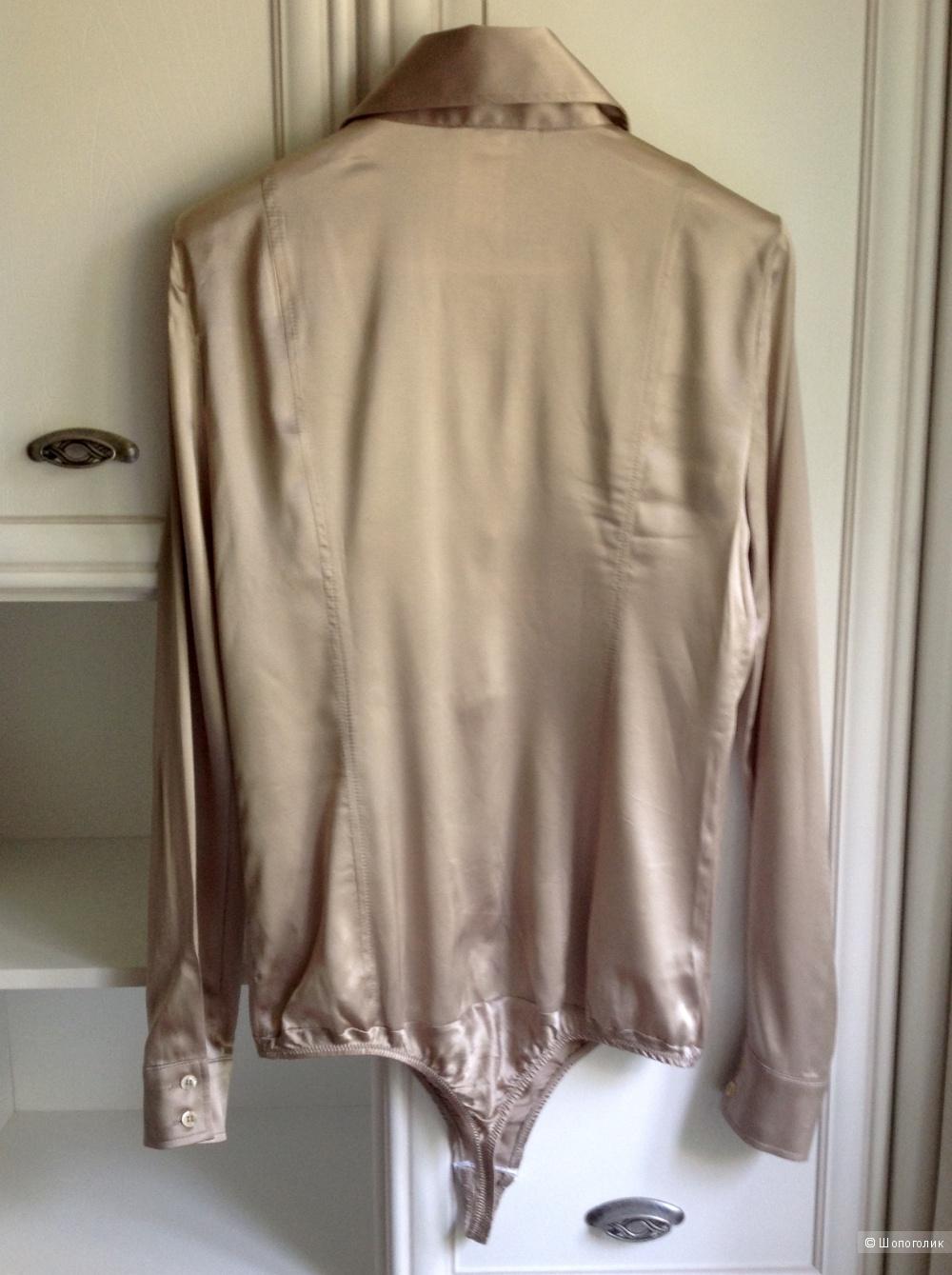 Шелковая рубашка-боди Patrizia Pepe, размер 48.