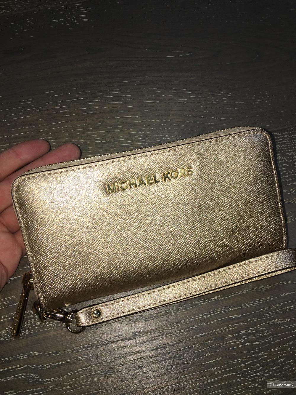 Кошелек Michael Kors, золотой металлик, оригинал