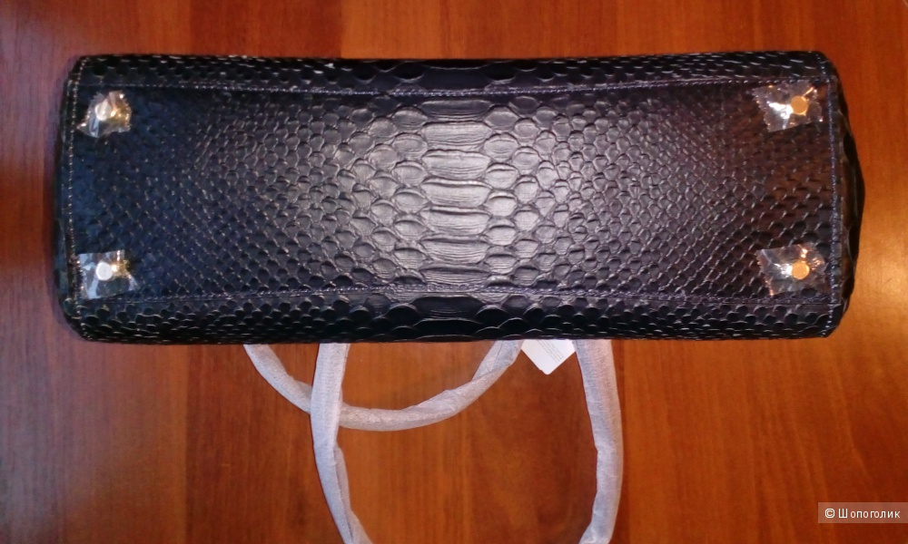 Новая тёмно-синяя кожаная сумка COACH с тиснением «змейка» (продажа или обмен)