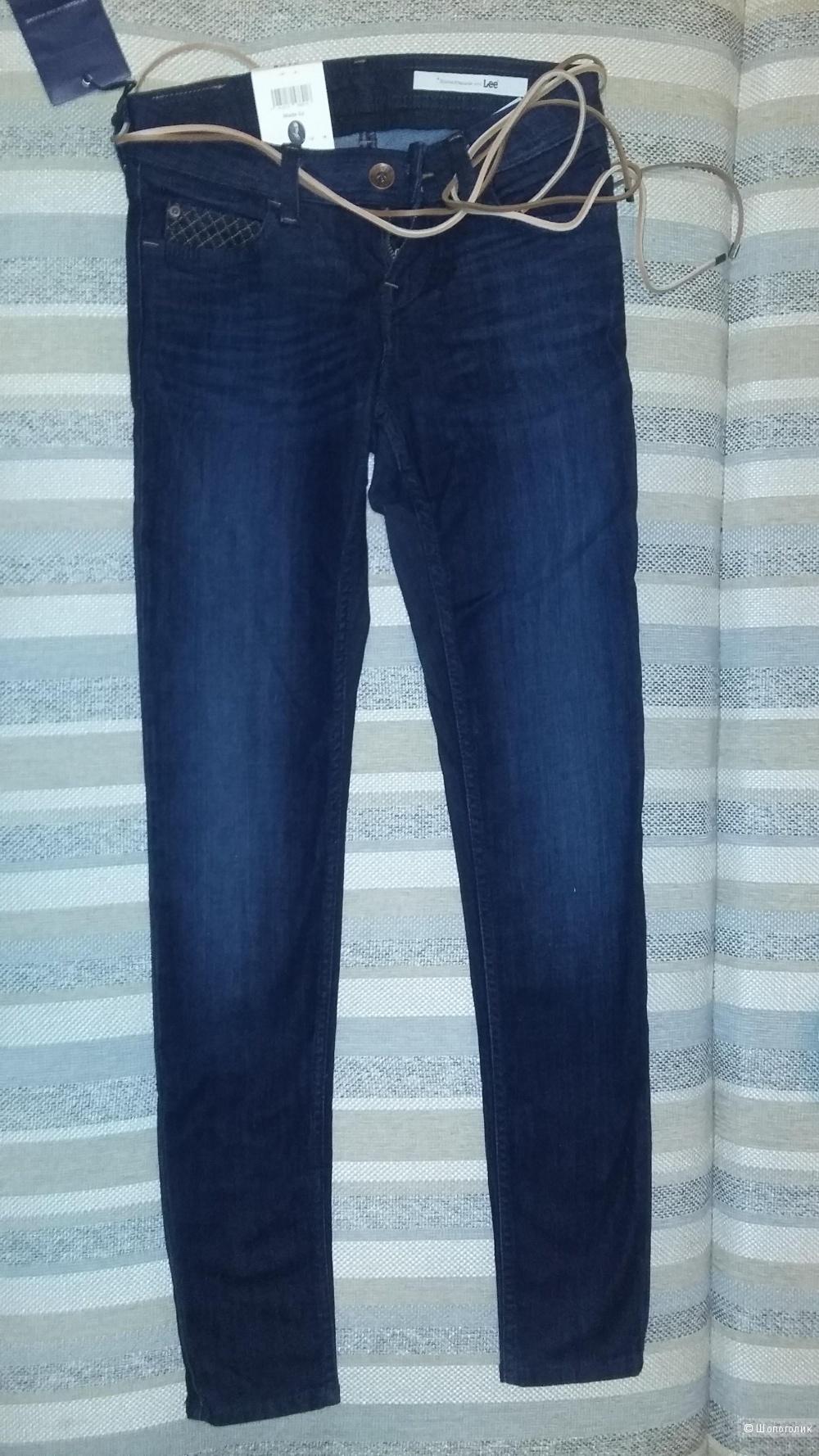 Джинсы с поясом Lee Jeans размер W26 L31