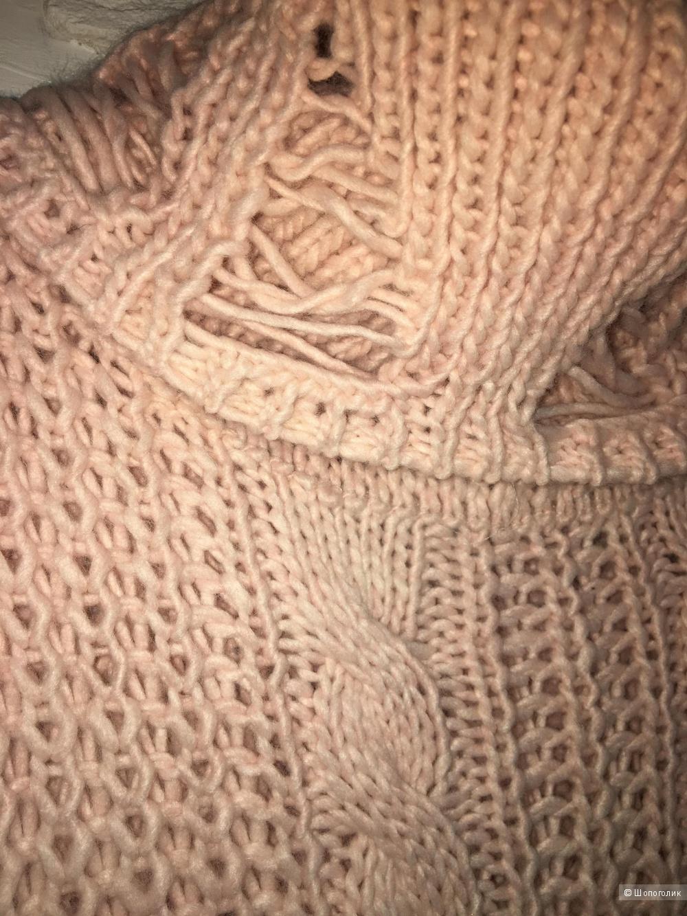 """Итальянский """"рваный"""" свитер, one size, акрил"""