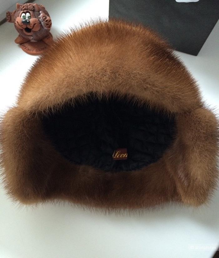 Шапка-ушанка зимняя с норкой от Leon-Elite, 58 размер.