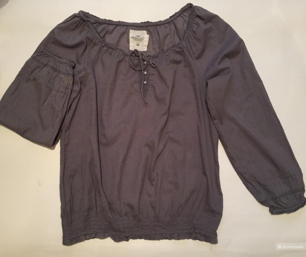 Блузка оверсайз фирмы hm размер 44-46