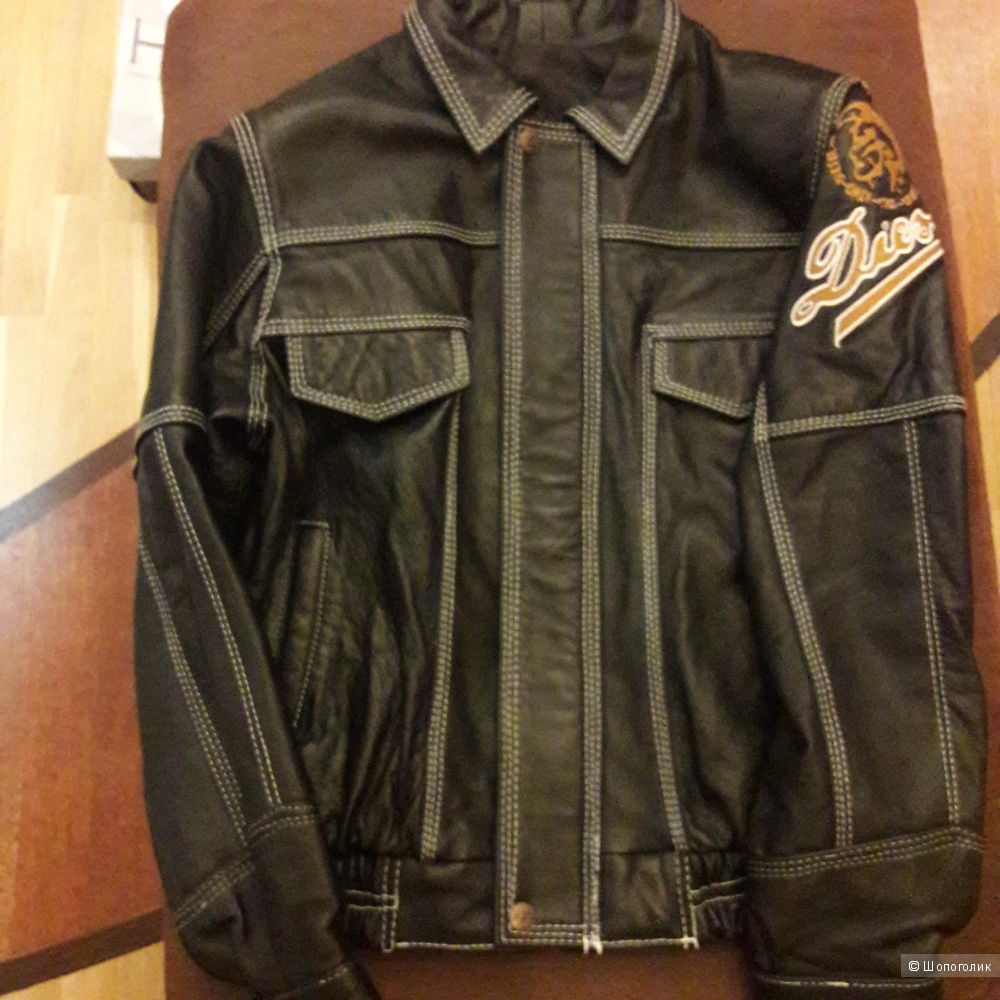 Кожаная куртка на мальчика 10-14 лет