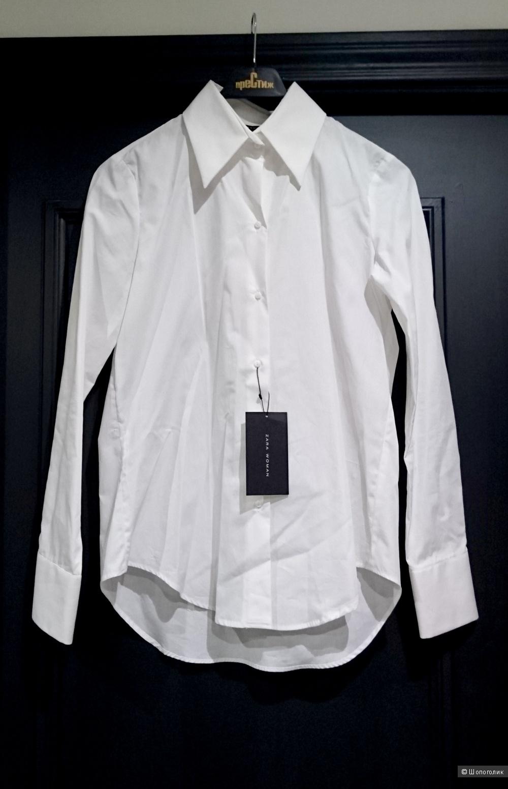 Строгий комплект: новая белая рубашка Zara Woman (размер S) и юбка Pompa (44 росс.)
