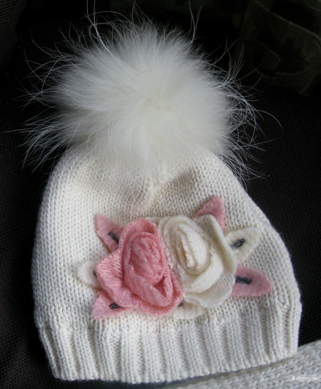 Новый комплект Pinetti (шапка+ шарф) для девочки на 2-3 года