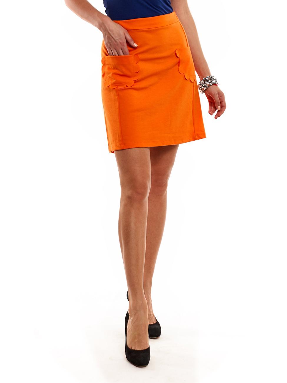 Юбка Vero Moda оранжевого цвета размер 40 на наш скорее 48