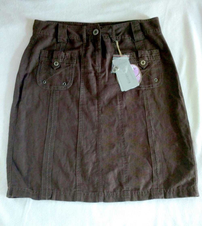 Новая летняя юбка шоколадного цвета KennyS (46-48RUS)