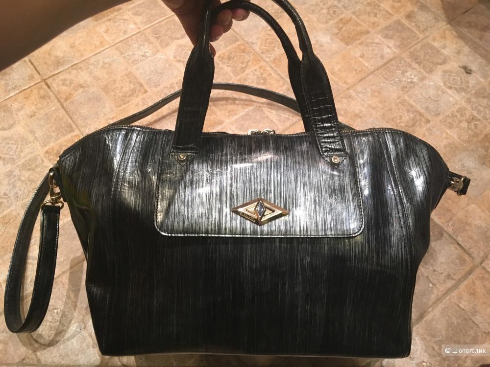 Вместительная кожаная сумка Eleganzza