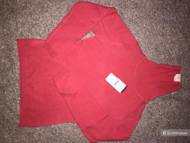 Новый женский свитер из кашемира и шерсти, Woolovers,  размер S, цвет коралловый