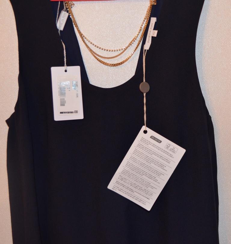 Платье Patrizia Pepe, размер 42 IT, темно-синее