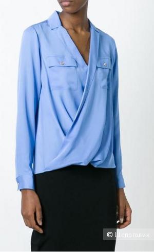 Новая шелковая блузка с запАхом Michael Michael Kors, размер S (RU 44/44+)
