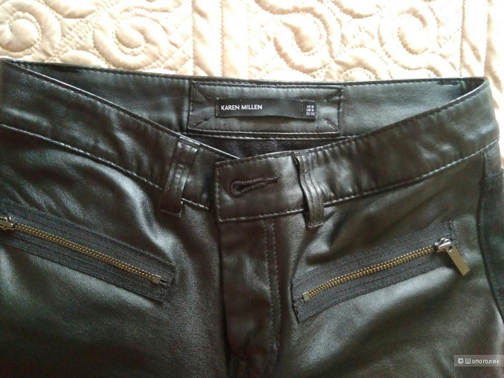 Кожаные брюки Karen millen  36 размер