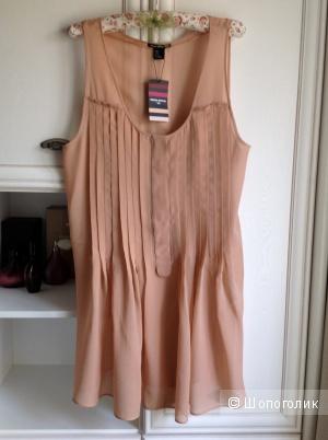Шелковое шемизе Sonia Rykiel for H&M, размер М.