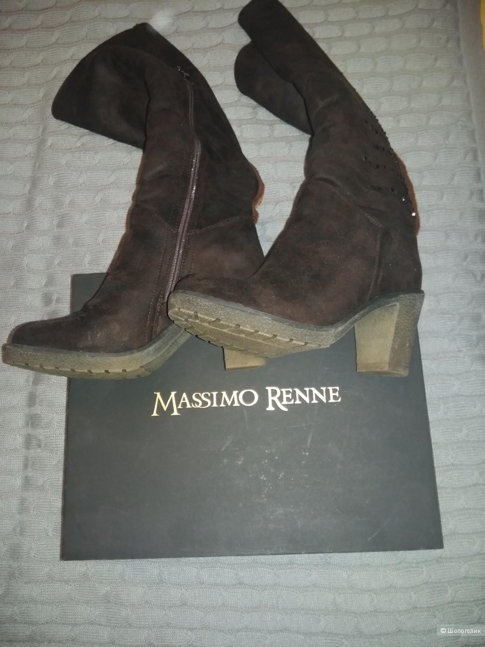 Сапоги зимние замшевые Massimo Renne, размер 38