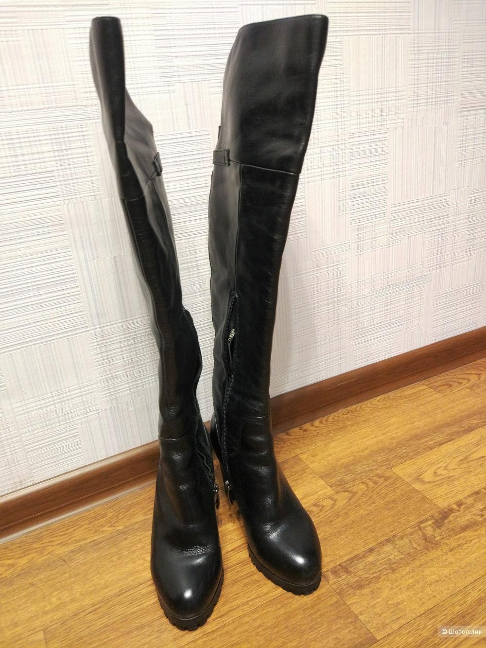 Кожаные зимние ботфорты Эконика 37 размер