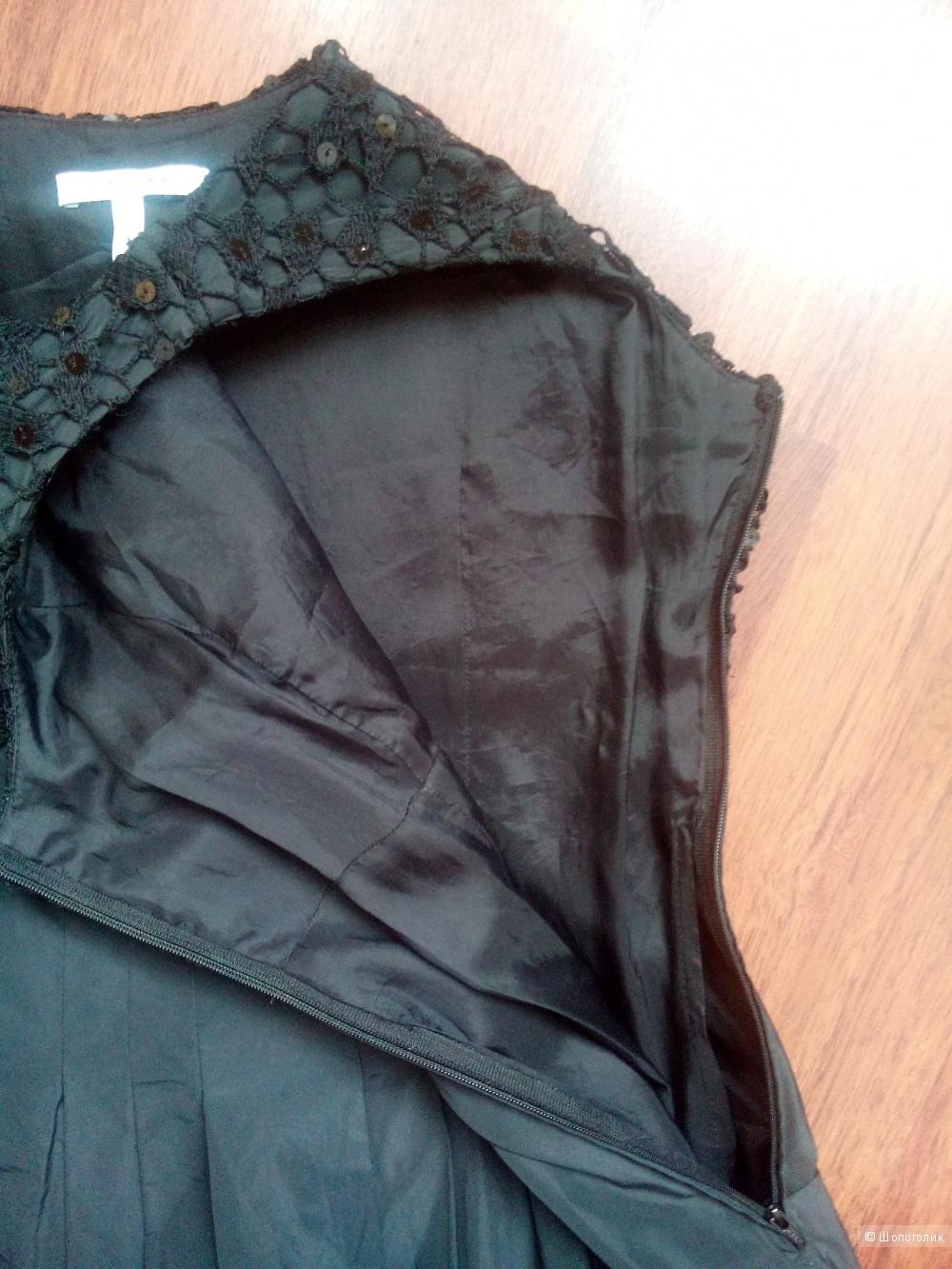 Платье черное коктейльное CASSANI Италия в размере 46IT 40В(46-48)