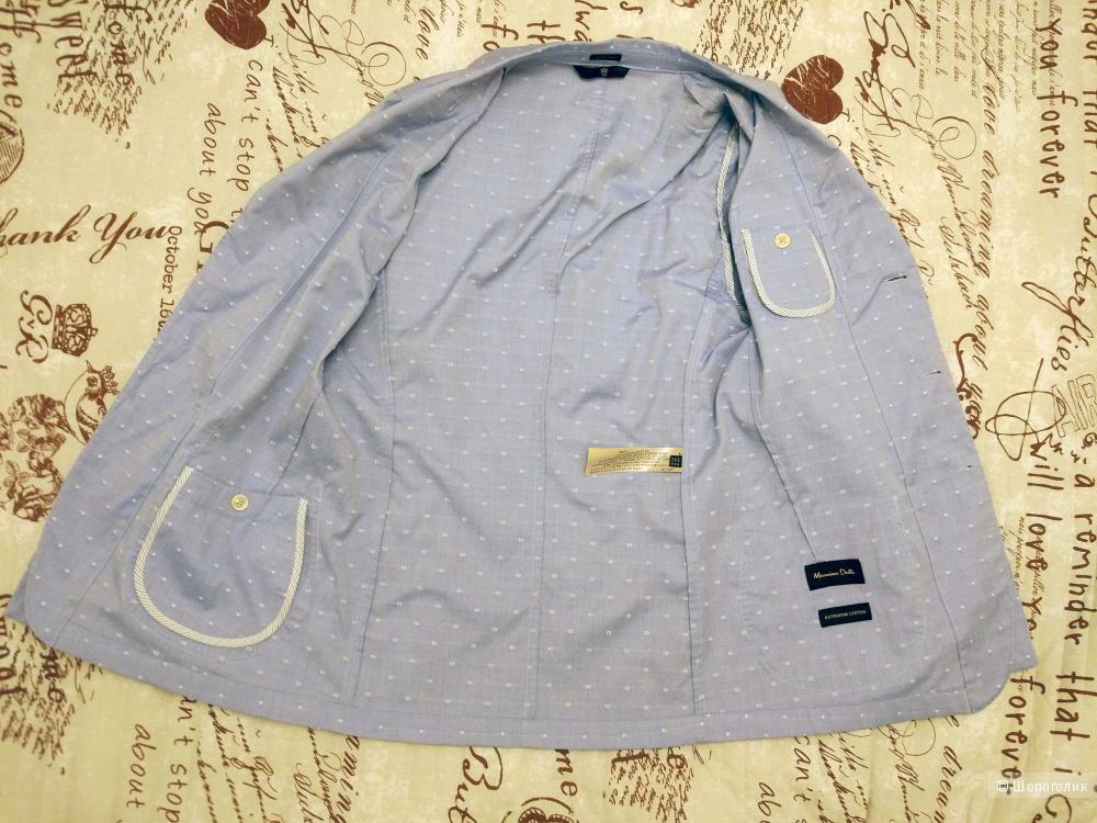 Хлопковый пиджак Massimo Dutti 46-48 рр