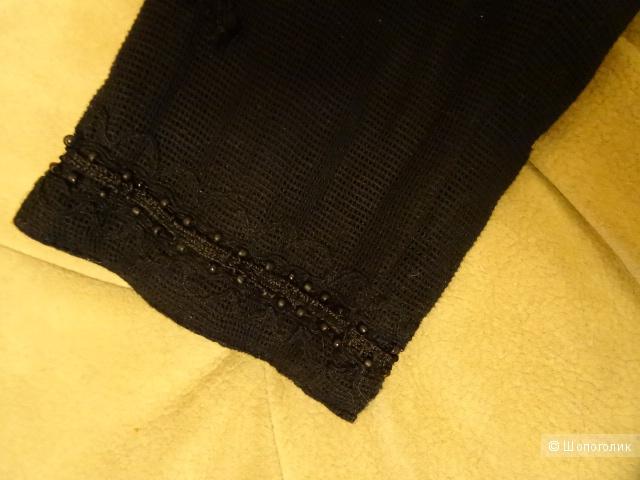 """Куртка-пиджак с узором из бисера """"Mango suit collection"""", размер 42, б/у"""