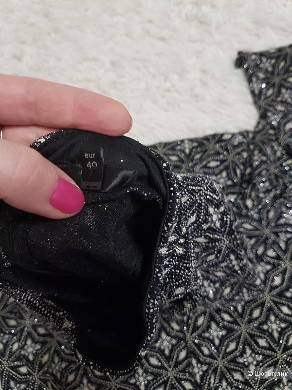 Платье  River Island Long Sleeve Glitter Bodycon, 40 EUR, 14 UK, на 46 росс