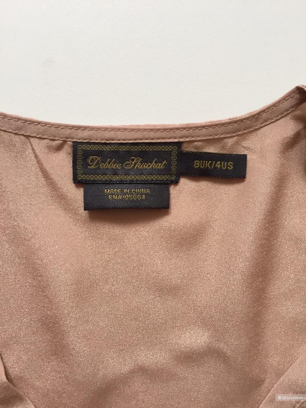Элегантная блузка бежевого цвета  марка Debbie Jhuchat размер M
