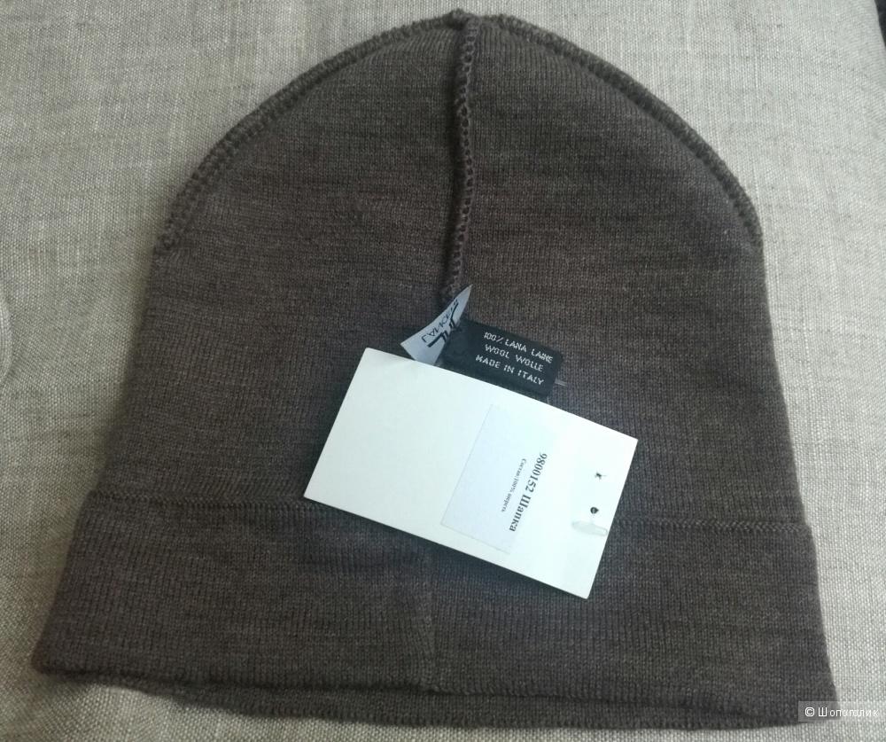 Новая шерстяная шапка LANCETTI, Италия