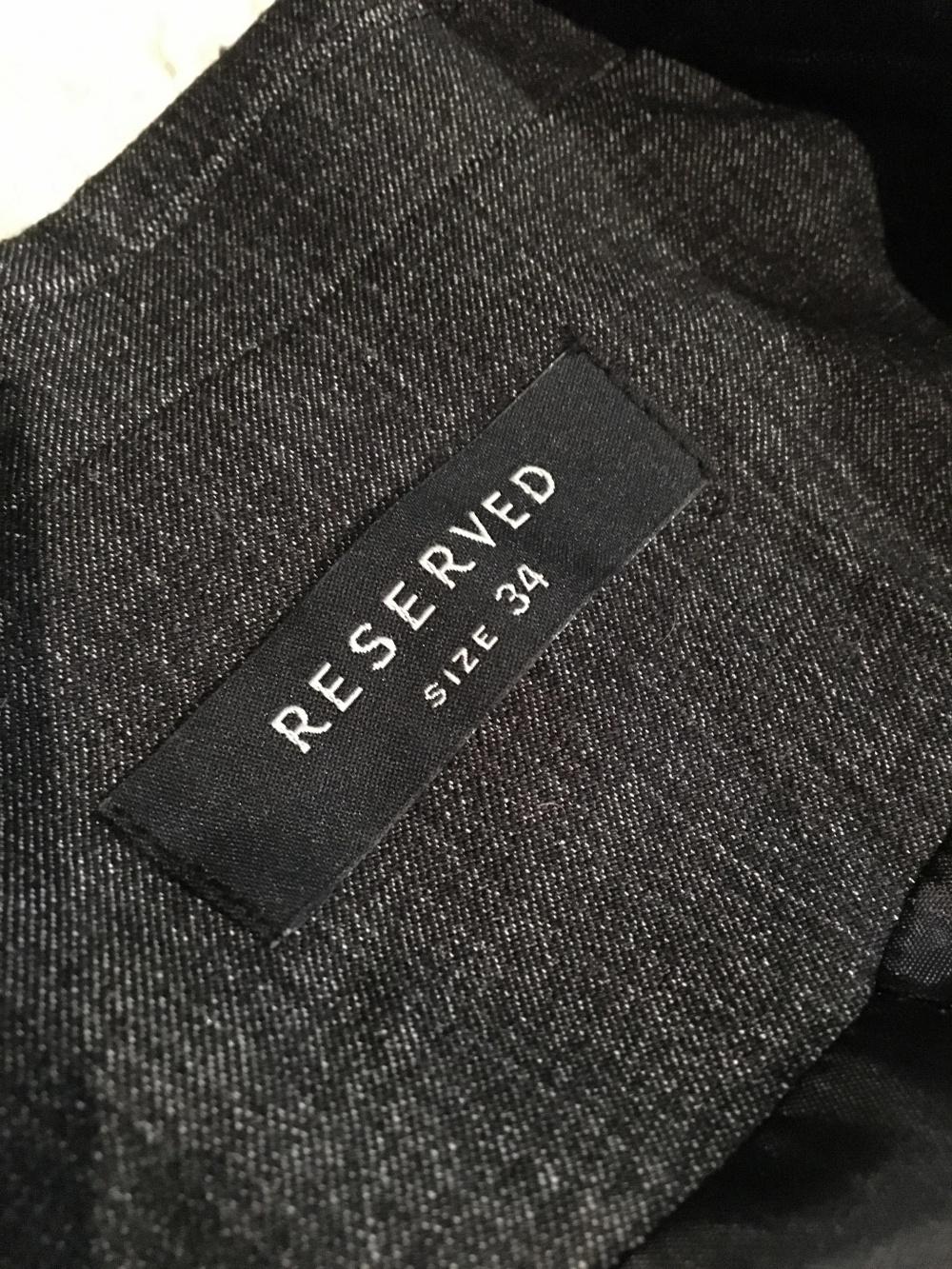 Приталенный пиджак Reserved, размер 34 eur