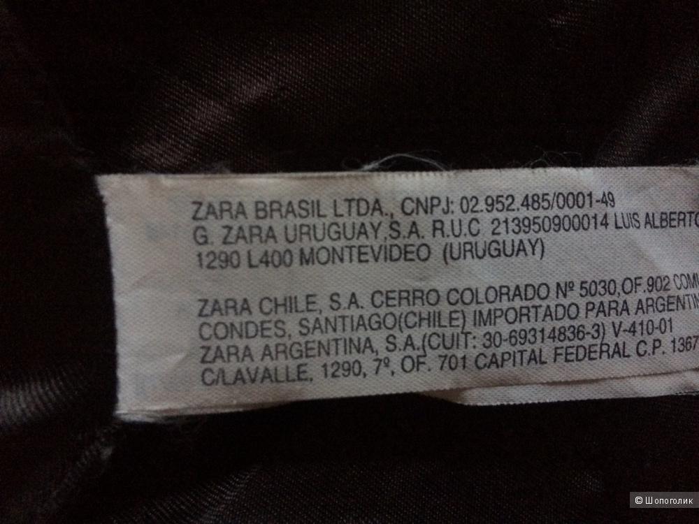 Шуба из искусствовенного меха Zara XS-S
