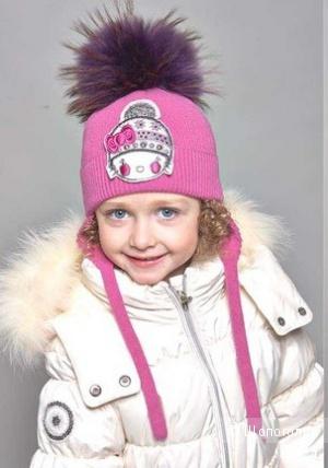 Детская шапка Tavitta б/у размер С на ОГ 48 см
