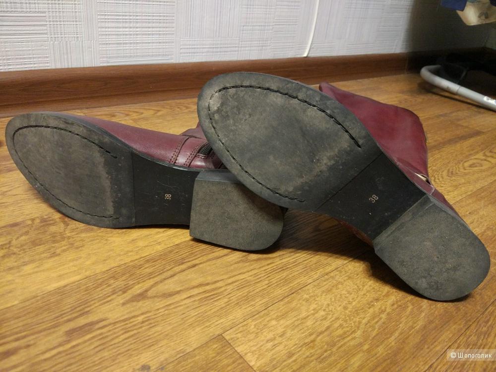 Кожаные сапоги Topshop 38 размера
