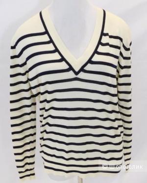 Хлопковый пуловер от Jcrew на м -L