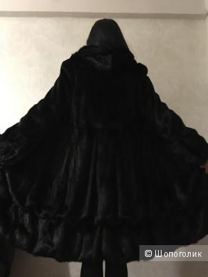 Шуба норковая « чёрный бриллиант», размер 44-46