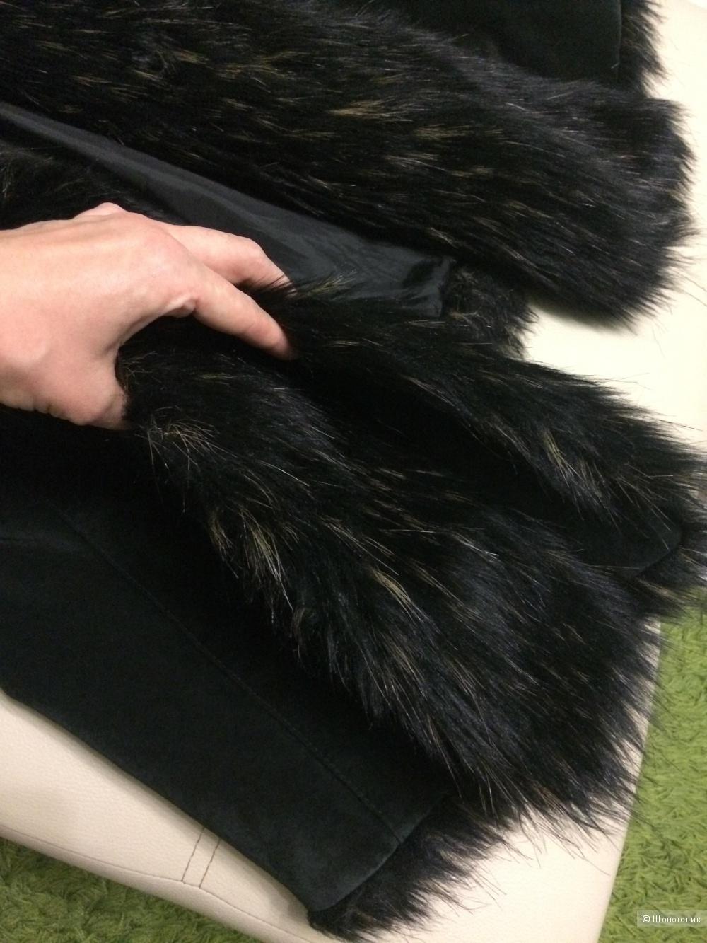 Кожаное пальто замша велюр Patrizia Dini 48-50 размер