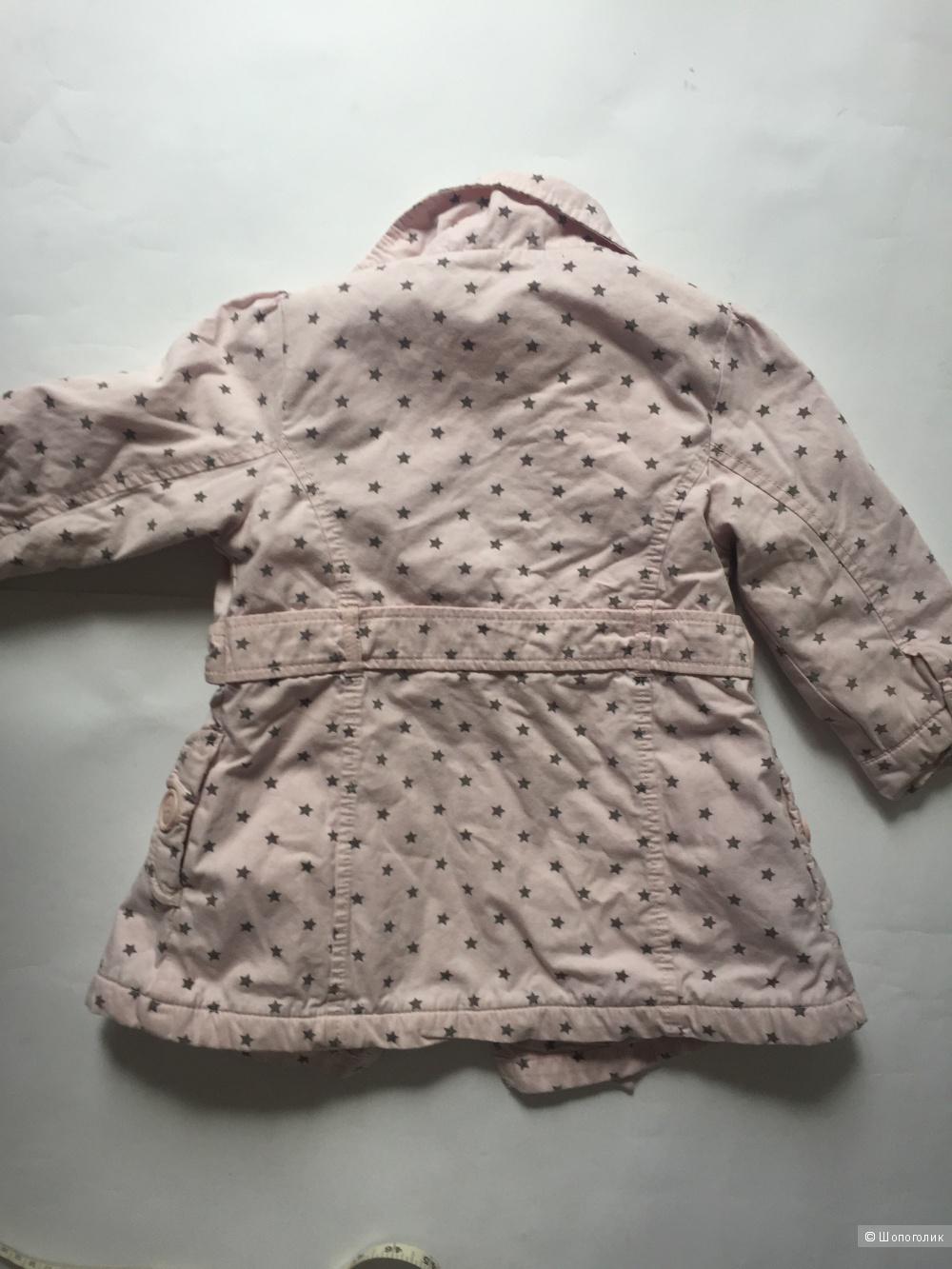 Сет детское пальто Next, ветровка no name, кофточка next на 1-2 года